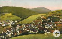 Eine alte colorierte Ansichtskarte von Buttenhausen