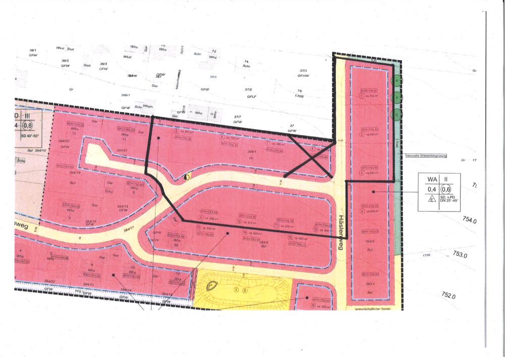 Geltungsbereich Erweiterung Wohnbaugebiet Kirchweg