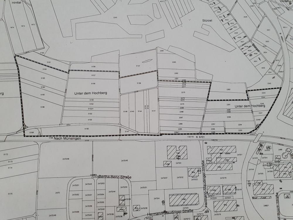 Abgrenzung Geltungsbereich Erweiterung Industriegebiet West, 5. Abschnitt