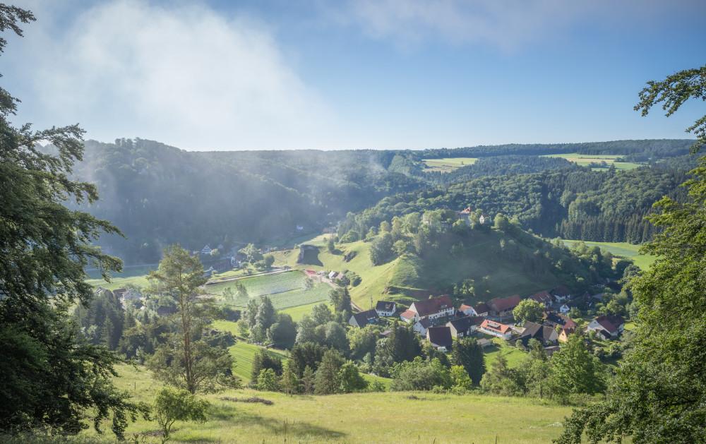 Blick auf das Neubaugebiet Burgblick