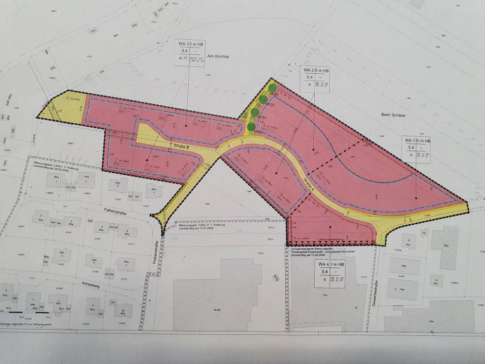 Abgrenzung Geltungsbereich Neubaugebiet Finkenstraße